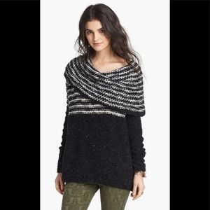 Free people engineer wool blend open knit sweater